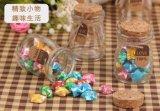 De Fles van de Pudding van het glas met Houten Stop voor Decoratie