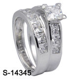 Joyería de la manera del anillo de boda de la plata esterlina 925 (S-14345 .JPG, S-14345Y. JPG)