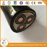 11kv 33kv de Enige Kabel van de Macht van het Aluminium van de Kern of van het Avontuurtje van Drie Kernen XLPE Geïsoleerdet