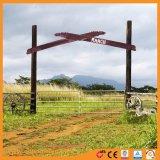 Оцинкованный сварной я оставаться стабильной ворот фермы в сельских районах