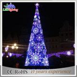 Luz gigante da árvore do Natal ao ar livre artificial do PVC do diodo emissor de luz da decoração