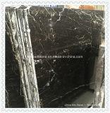 Черный мраморный сляб для плиток
