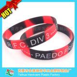Ha personalizzato il braccialetto del silicone di uso di entrambi i lati con Debossed & la stampa (TH-519)