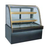 새로운 형식 검정 대리석에 의하여 구부려지는 문 케이크 전시 냉각장치 Pasrty 전시 냉각기
