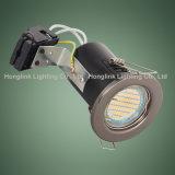 Techo ahuecado IP20 GU10 LED fijo Downlight para el techo clasificado del fuego BRITÁNICO BS476