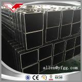 Casilla negra de la construcción y talla y precio de acero rectangulares del tubo