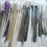 緩い波状の漆黒#1 Remyの人間の毛髪のよこ糸