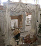 Fine 손 Carved Quality와 Simple Design T-7105를 가진 Sale Marble Fireplaces에