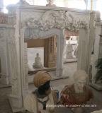 sui camini del marmo di vendita con qualità Mano-Intagliata fine ed il disegno semplice T-7105