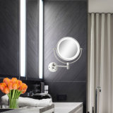 5X magnifiant la salle de bains lumineuse par DEL rasant le miroir fixé au mur