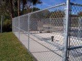 Clôtures de maillon de chaîne en acier galvanisé pour l'usine/soudé en acier revêtu d'alimentation galvanisé clôtures/Treillis soudés haute visibilité clôtures temporaires