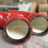 Curvaturas de tubulação cerâmicas do forro do óxido de alumínio
