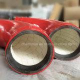 Coudes de tuyauterie en céramique de garniture d'oxyde d'aluminium