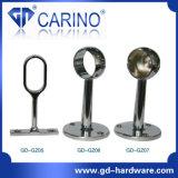 옷장 옷장 관 가로장 원형 플랜지 걸이; 철 또는 아연 합금 관 기본 격판덮개 *Iron 홀더