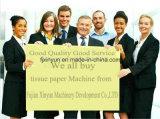 Novo design do lenço de papel tissue a linha de produção da máquina de dobragem