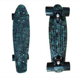 22inch PP Mini Skateboard Cruiser Complete Skateboards Banana Skateboard Black Pea Cock Design-5