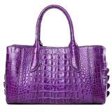 Пользовательские моды дизайн фиолетовый подлинной крокодиловая кожа кожа леди сумку с сертификат СИТЕС