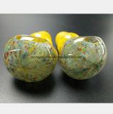 Waterpijp van het Glas van de Olie van de Filter van de Pijp van de Rook van 3.35 Duim de Gele