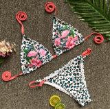 2018 Dame-Leopard gekopierter Bikini