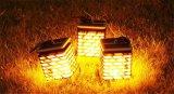 Водонепроницаемый светодиодный индикатор в саду солнечной энергии для использования вне помещений мерцание свечи Flameless висящих