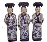 Estatua de porcelana china de la dinastía Qing (LW318)