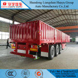 3 ejes de la pared lateral de 60 toneladas de carga a granel semi remolque, contenedor de carga