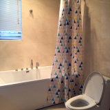 다색 삼각형 목욕탕을%s 100%년 폴리에스테 방수 샤워 커튼