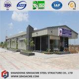 Edifício de loja claro pré-fabricado moderno da construção de aço com painel da fibra de vidro