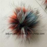 Fourrure en peau de demoiselle personnalisée Pompom Fake Fur