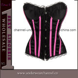 Skirt Lingerie Corset (TA9192)를 가진 섹시한 Women Leather Bodysuit