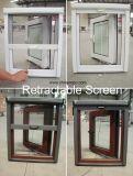 Finestra di plastica con lo schermo, finestra francese della stoffa per tendine del PVC