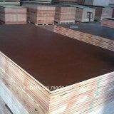 18mm película impermeable frente la construcción de madera contrachapada de encofrado de hormigón para la construcción de uso