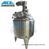 Com camisa de aquecimento por vapor vertical do depósito de mistura de aço inoxidável com um agitador