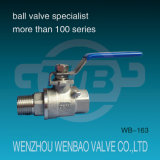 1 шариковый клапан продетый нитку частью нержавеющей стали (304, 316) ручной M/F
