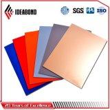 Панель потолка Ideabond серебряная PVDF алюминиевая (AF-408)