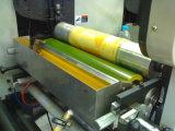 Rodillo auto-adhesivo del papel de etiqueta que corta con tintas rajando la máquina flexográfica