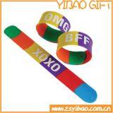 Отражательный браслет шлепка силикона с подгонянным логосом (YB-w-023)