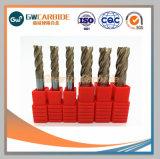O carboneto de tungsténio Extremidade Sólida Mills as ferramentas de corte