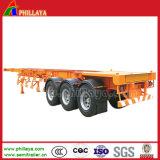 판매를 위한 해골 반 콘테이너 트럭 트레일러 40ft 트레일러