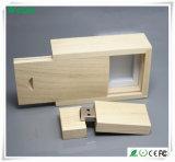 Venta caliente USB Stick de madera con gran tamaño legal (WY-W14)