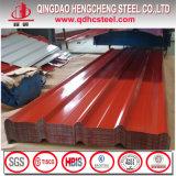 Hoja acanalada colorida galvanizada prepintada de la hoja de acero acanalada de la azotea