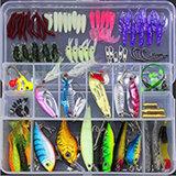 100 ПК промысел приманка с рыболовных инструменты в пластмассовом ящике рыбалкой решения