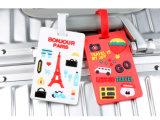 Fabrication de personnaliser les voyages en avion promotionnels PVC Luggage Tag