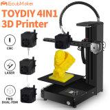 Stampante doppia tutta di CNC 3D del laser di Ecubmaker 4in1 Toydiy 180*180*180mm Fdm in una