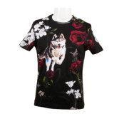 Men's Short Sleeve Crewneck plein occasionnel Imprimer Cool-Unique Coton T-Shirt de sport