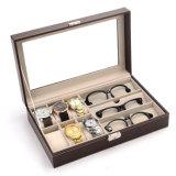 도매 고품질 PU 가죽 시계 또는 Sunglass 보석 저장 상자