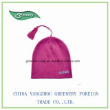 新しい方法ピンクの刺繍の暖かいニットの帽子