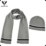 2016 Hot New Design Soft Acrylic Bottom Color Change Stripe Knitting Scarf