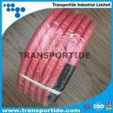 Gewebe flocht flexiblen Gummiluft-Schlauch mit Farben-Deckel