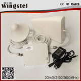 Repetidor móvil dual de la señal de la venda 3G 4G 2100/2600MHz del nuevo diseño